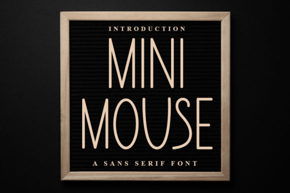 Print on Demand: Mini Mouse Sans Serif Font By FL Space