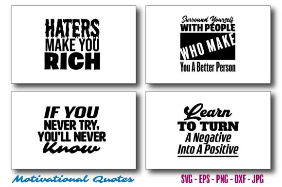 Motivational Quotes Bundle Graphic Crafts By Saudagar