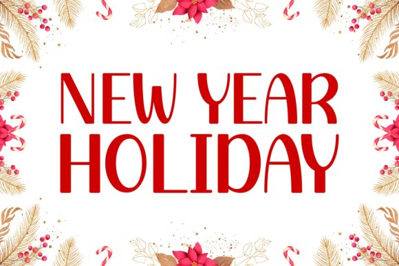 Print on Demand: New Year Holiday Display Font By Keithzo (7NTypes)