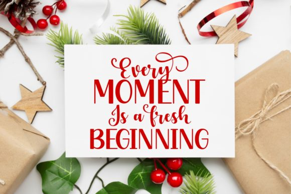 New Year Holiday Font Design