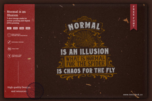 Normal is an Illusion Graphic Illustrations By teeoclock.co