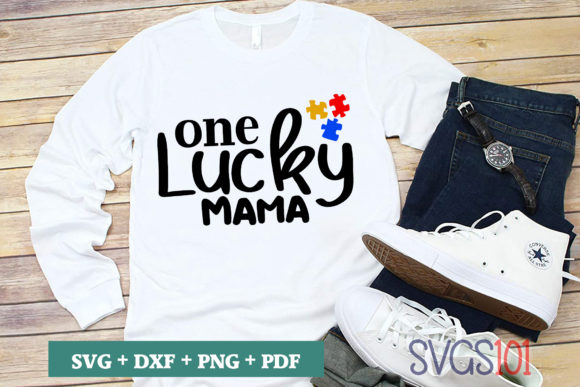 One Lucky Mama SVG Graphic Illustrations By svgs101