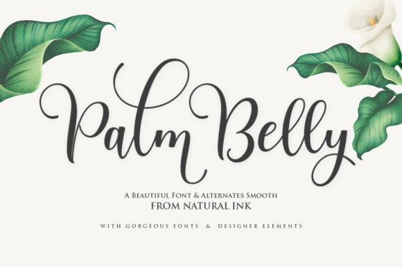 Print on Demand: Palm Belly Script & Handwritten Font By Natural Ink