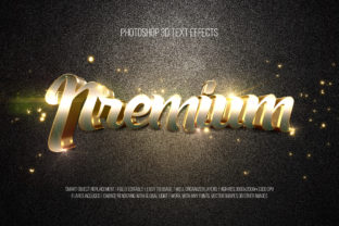 Print on Demand: Photoshop 3D Text Effects (Premium) Graphic Layer Styles By DigitalPremium