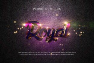 Print on Demand: Photoshop 3D Text Effects (Royal) Graphic Layer Styles By DigitalPremium