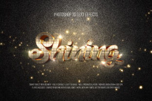 Print on Demand: Photoshop 3D Text Effects (Shining) Graphic Layer Styles By DigitalPremium