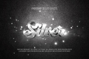 Print on Demand: Photoshop 3D Text Effects (Silver) Graphic Layer Styles By DigitalPremium