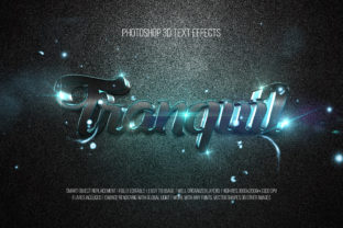 Print on Demand: Photoshop 3D Text Effects (Tranquil) Graphic Layer Styles By DigitalPremium