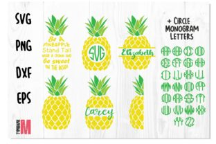 Print on Demand: Pineapple Bundle SVG Monogram Graphic Crafts By Typography Morozyuk