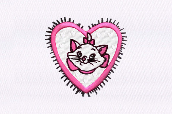 Pink Cat Cats Embroidery Design By DigitEMB