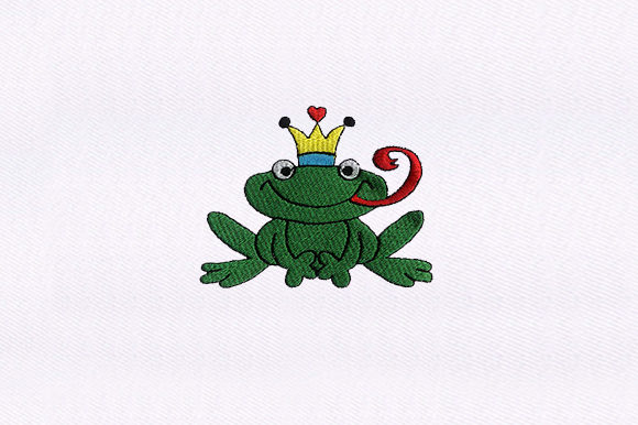 Prince Frogs Embroidery