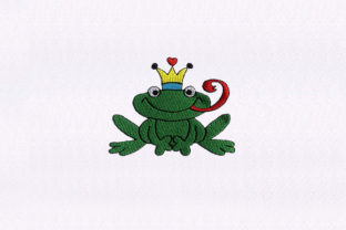 Prince Frogs Animals Embroidery Design By DigitEMB