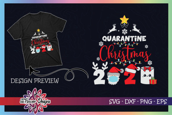 Quarantine Christmas Mask Toilet Paper Graphic Print Templates By ssflower