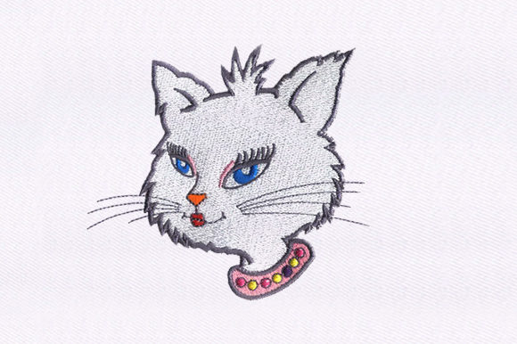 Queen Cat Cats Embroidery Design By DigitEMB