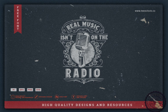 Real Music  Isn't on the Radio Graphic Crafts By teeoclock.co