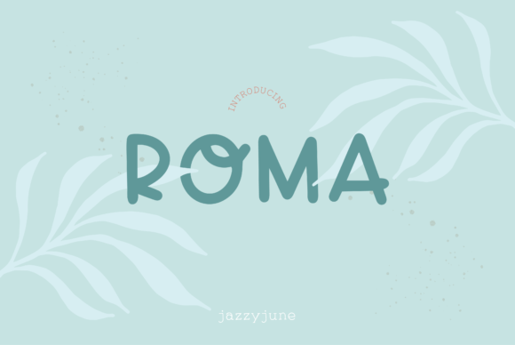 Print on Demand: Roma Sans Serif Font By jazzyjune