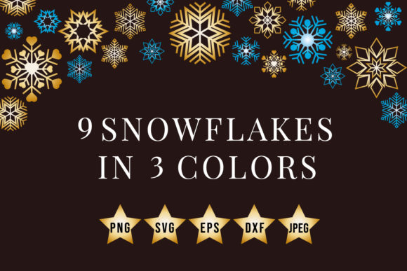 Print on Demand: Snowflakes Svg  Svg Cut Files Graphic Crafts By MyBest Design