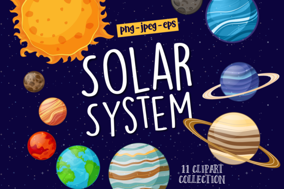Print on Demand: Solar System Clipart Graphic Illustrations By DigitalPapers