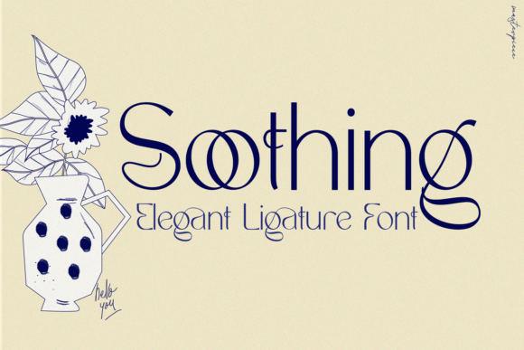 Print on Demand: Soothing Sans Serif Font By 177Studio
