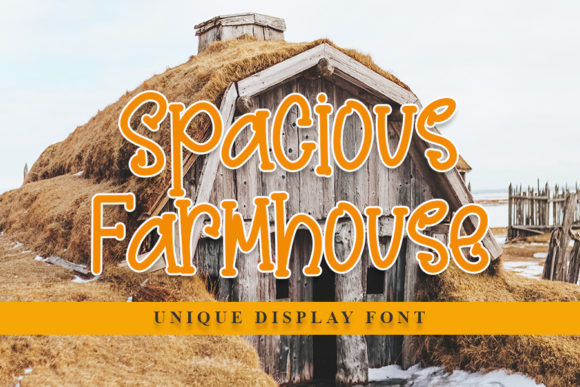 Print on Demand: Spacious Farmhouse Display Font By NYA Letter