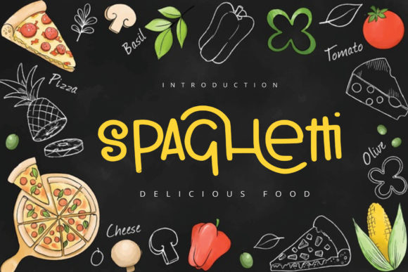 Print on Demand: Spaghetti Script & Handwritten Font By goodigital