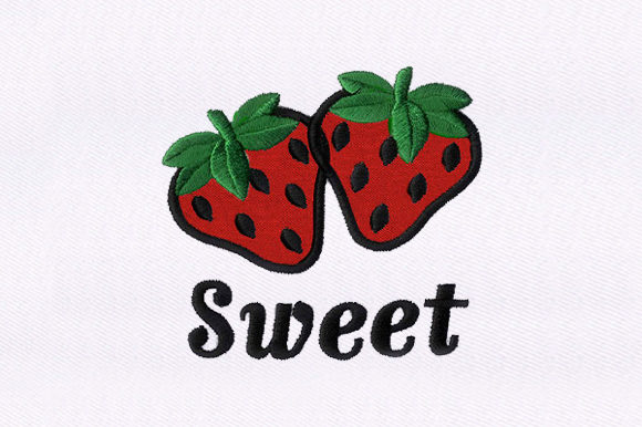 Strawberries Food & Dining Embroidery Design By DigitEMB