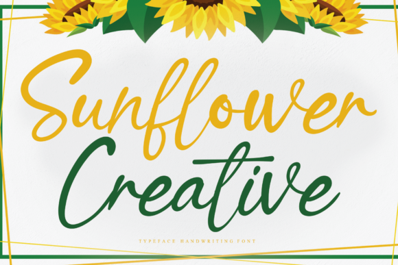 Print on Demand: Sunflower Creative Manuscrita Fuente Por Creativewhitee