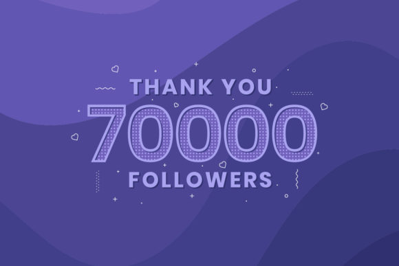 Print on Demand: Thank You 70000 Followers Graphic Crafts By Netart
