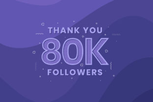 Print on Demand: Thank You 80K Followers Graphic Illustrations By Netart