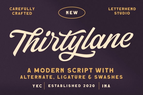 Print on Demand: Thirtylane Script & Handwritten Font By letterhend