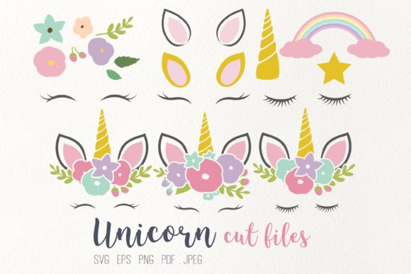 Unicorn Cut Files Clipart Graphic Illustrations By peachycottoncandy