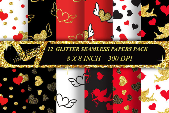 Valentine Seamless Patterns Pack Graphic Patterns By arevkasunshine