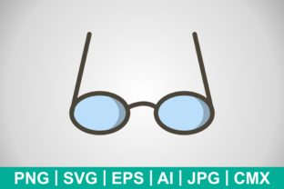 Print on Demand: Vector Glasses Icon Gráfico Iconos Por IYIKON