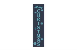 Vertical Sign Merry Christmas SVG, DXF Graphic Product Mockups By Fast Store