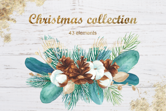 Print on Demand: Watercolor Christmas Clipart Graphic Illustrations By colours_of_wind