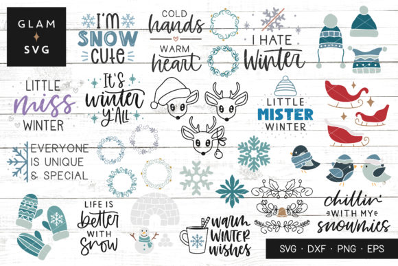 Winter Bundle Graphic Crafts By Glam SVG