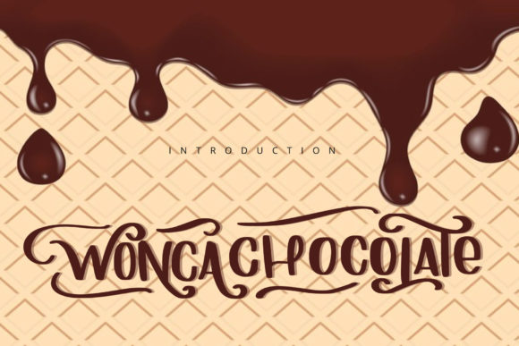 Print on Demand: Wonca Chocolate Display Font By goodigital