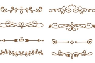 Swirly Decorative Dividers Collection Graphic Illustrations By Big Barn Doodles