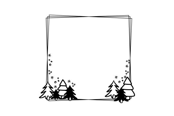Christmas Border Cut File