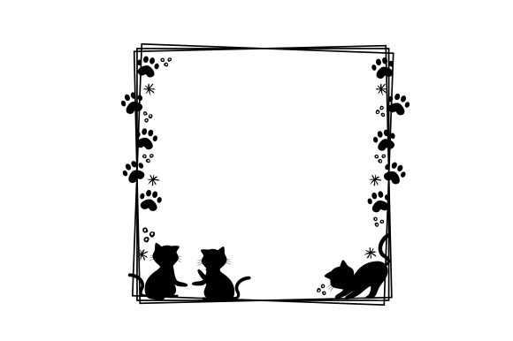 Cat Border Cats Craft Cut File By Creative Fabrica Crafts