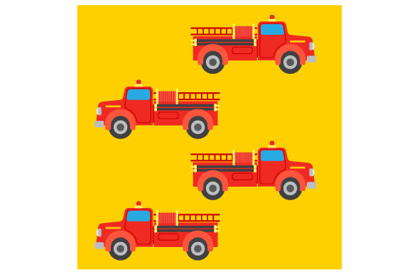 Firetruck Seamless Pattern Fire & Police Craft Cut File By Creative Fabrica Crafts