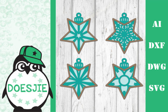 3D Layered Christmas Svg Bundle Stars Graphic 3D SVG By doesjie