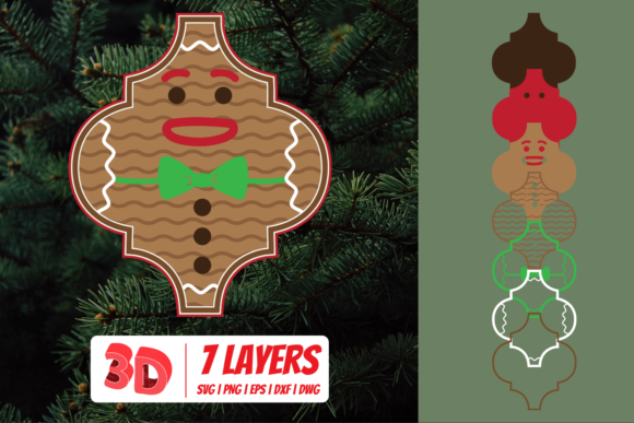 3D Gingerbread Man Cut File Graphic Crafts By SvgOcean