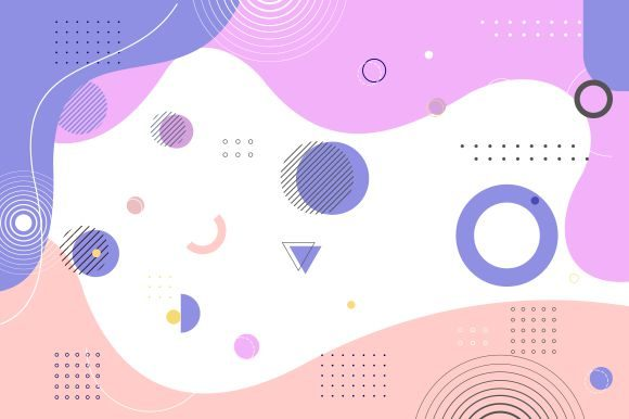 Abstract Background with Colorfull Graphic Logos By DEEMKA STUDIO