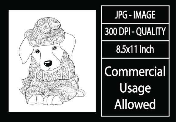Print on Demand: Adult Coloring Page 13 - Dog Graphic KDP Interiors By design-world