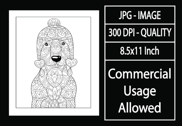 Print on Demand: Adult Coloring Page 16 - Dog Graphic KDP Interiors By design-world