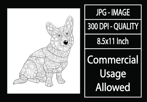 Print on Demand: Adult Coloring Page 26 - Dog Graphic KDP Interiors By design-world