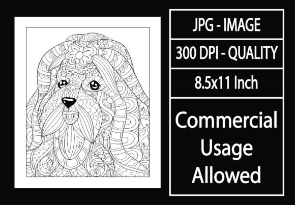 Print on Demand: Adult Coloring Page 28 - Dog Graphic KDP Interiors By design-world