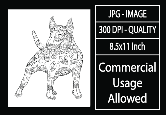 Print on Demand: Adult Coloring Page 33 - Dog Graphic KDP Interiors By design-world