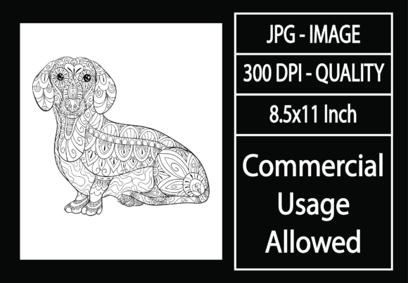 Print on Demand: Adult Coloring Page 35 - Dog Graphic KDP Interiors By design-world